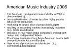 american music industry 2006