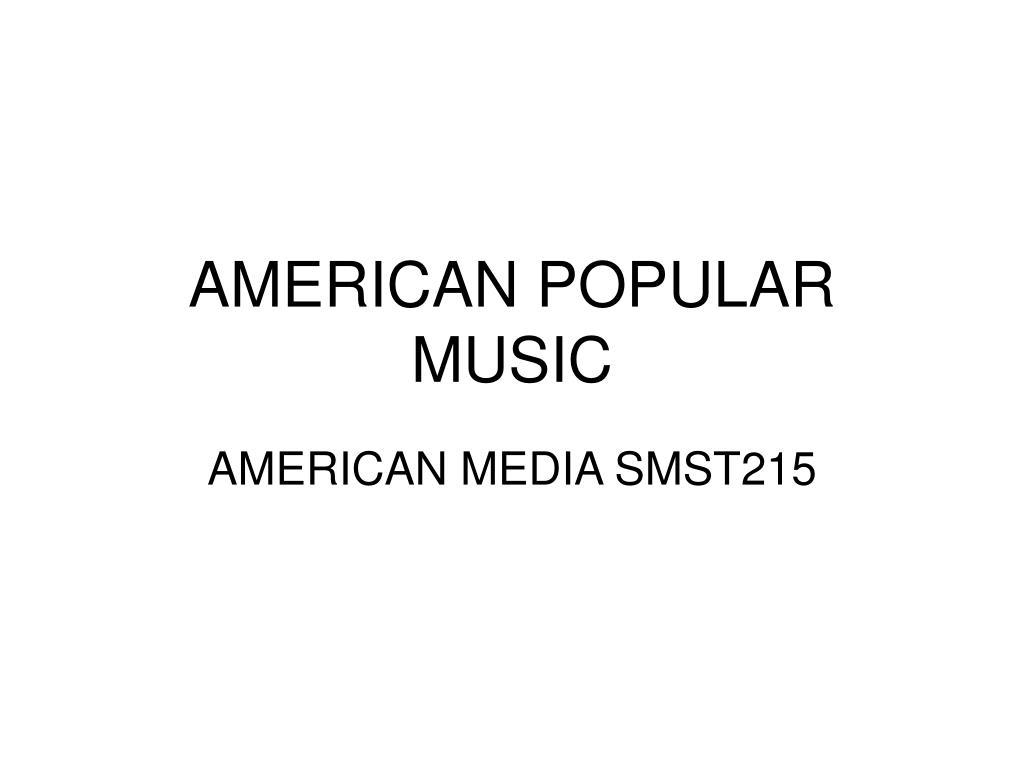 american popular music l.