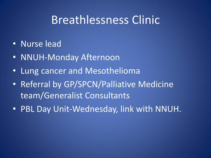 Breathlessness Clinic