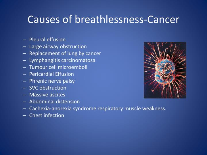 Causes of breathlessness-Cancer