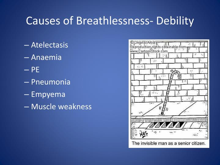 Causes of Breathlessness- Debility