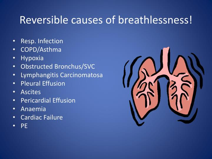 Reversible causes of breathlessness!