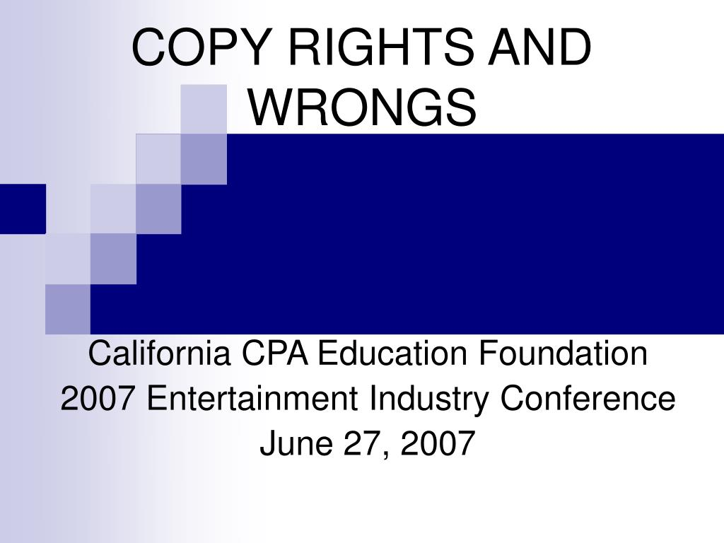 copy rights and wrongs l.