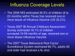influenza coverage levels