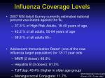 influenza coverage levels21