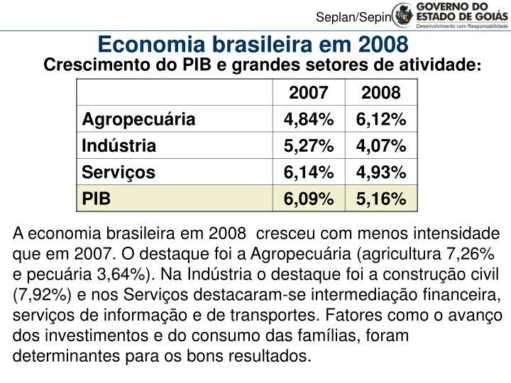 Economia brasileira em 2008