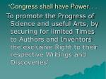 congress shall have power