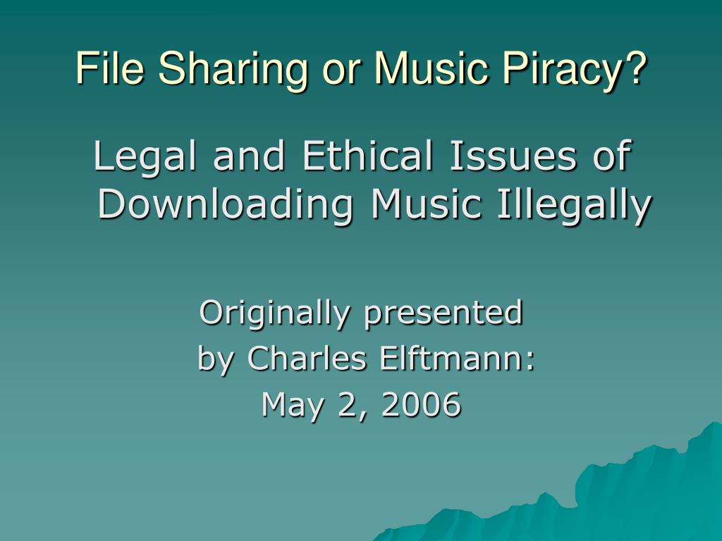 file sharing or music piracy l.