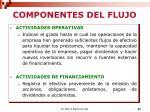 componentes del flujo