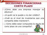decisiones financieras corto plazo