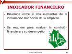 indicador financiero