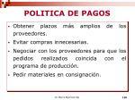 politica de pagos