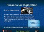 reasons for digitization