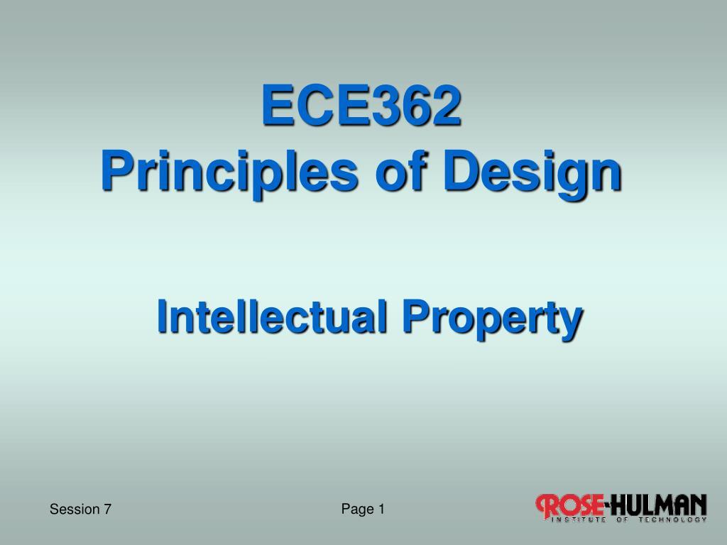 ece362 principles of design l.