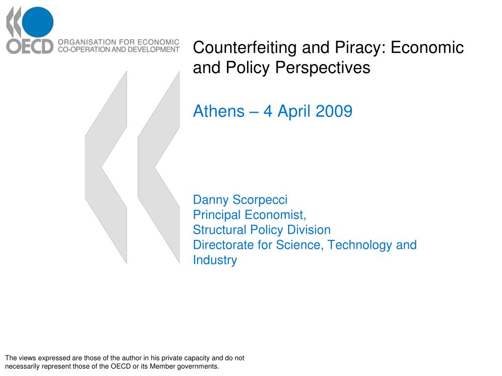 counterfeiting and piracy economic and policy perspectives l.