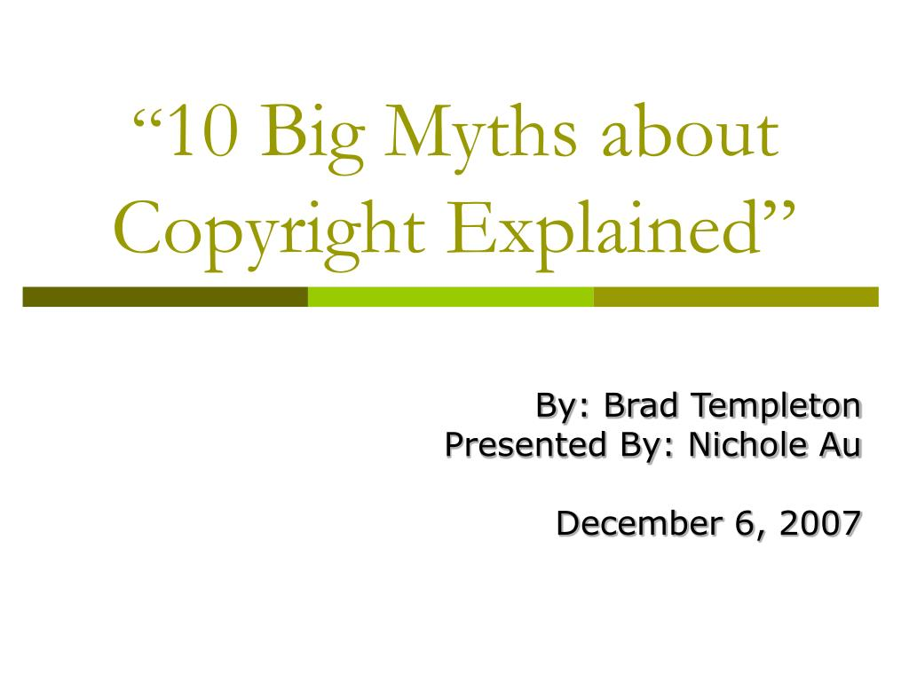 10 big myths about copyright explained l.