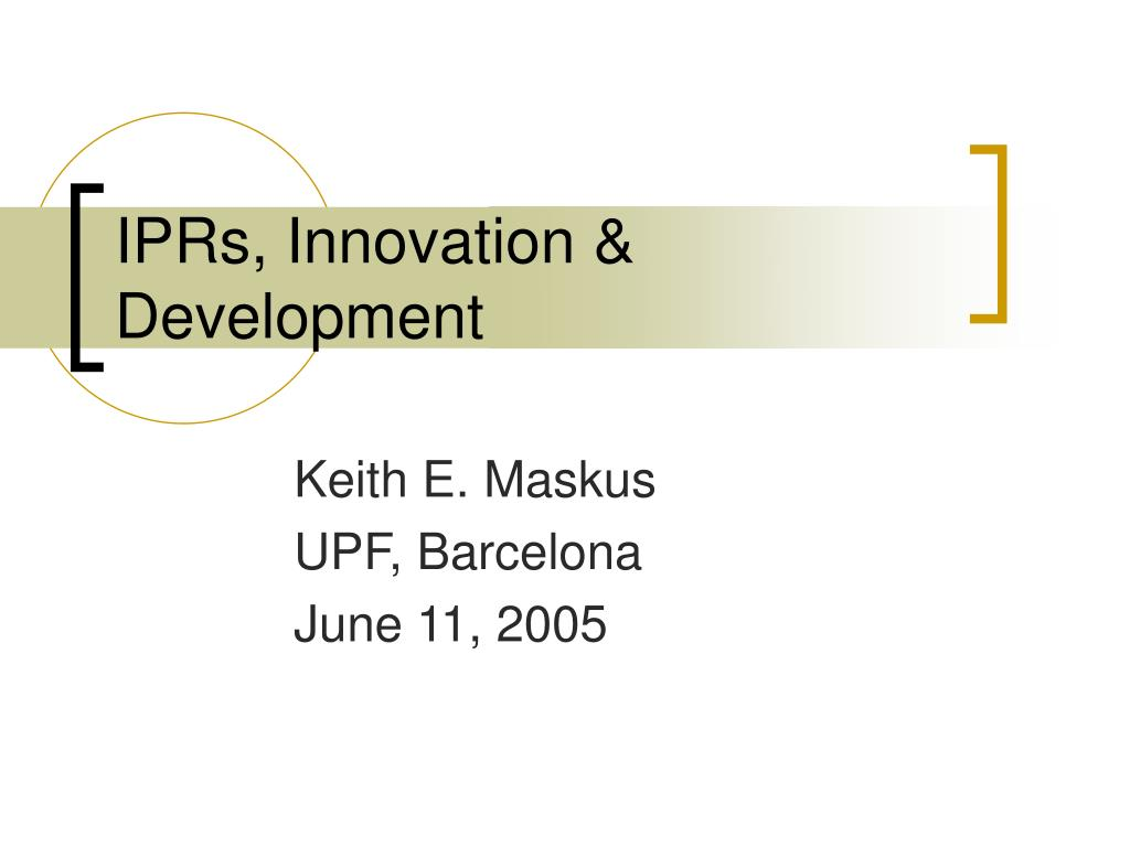 iprs innovation development l.
