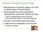 another example generic drugs