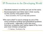 ip protection in the developing world