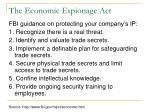 the economic espionage act