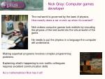 nick gray computer games developer