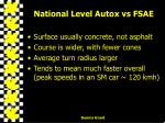 national level autox vs fsae