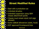 street modified rules