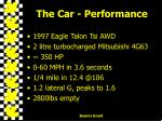 the car performance