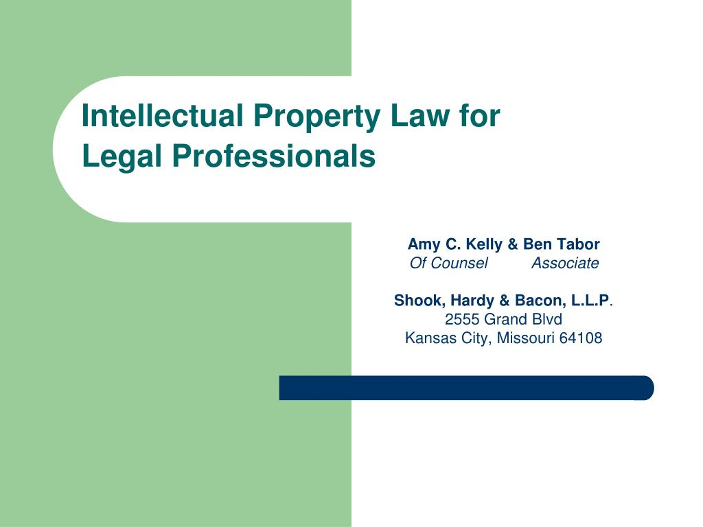 intellectual property law for legal professionals l.