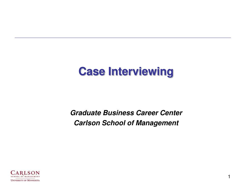 case interviewing l.