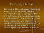 identifying a mentor
