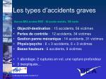 les types d accidents graves