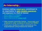 an internship