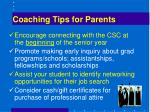 coaching tips for parents