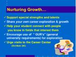 nurturing growth