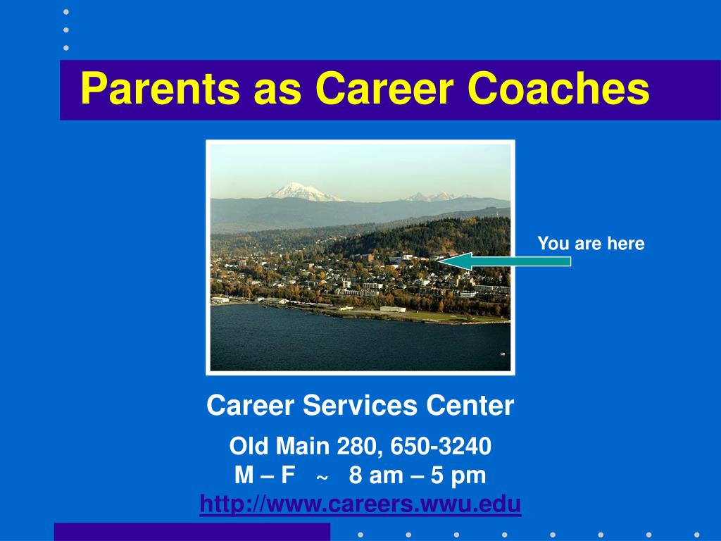 parents as career coaches l.