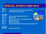 special events 2009 2010