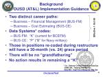background ousd at l implementation guidance