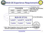 bus ce experience requirements