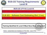 bus ce training requirements level iii