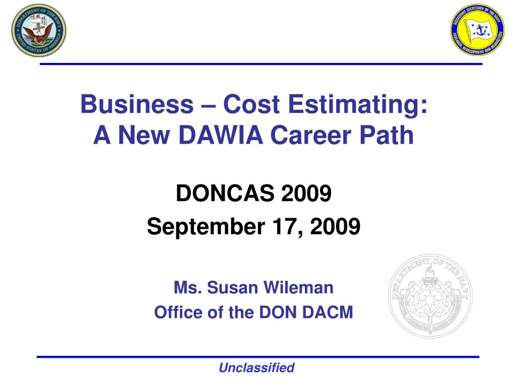 business cost estimating a new dawia career path l.