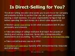 is direct selling for you16