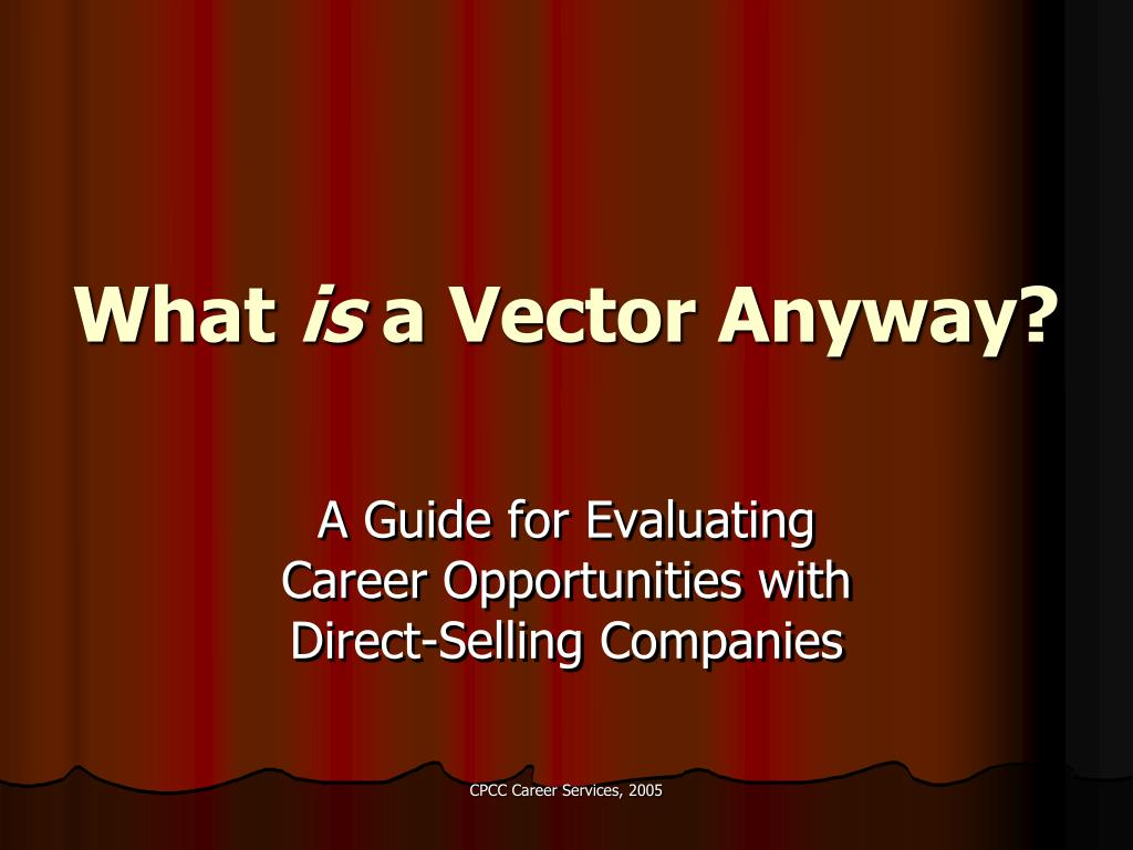 what is a vector anyway l.