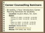 career counselling seminars