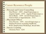 career resource people