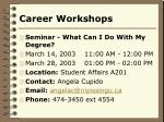 career workshops