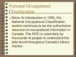 national occupational classification