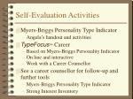 self evaluation activities