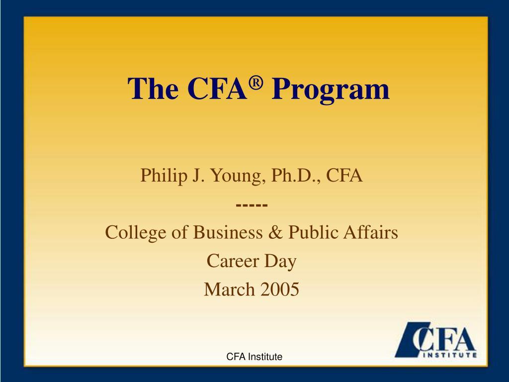 the cfa program l.