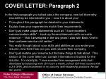 cover letter paragraph 2